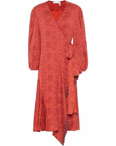 Платье с запахом с цветочным принтом Chloé