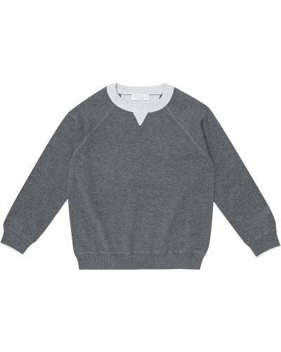 Bawełna bawełna bluza Brunello Cucinelli Kids