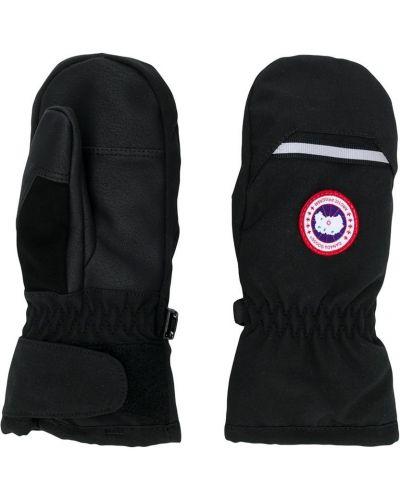 Czarne rękawiczki bawełniane Canada Goose Kids