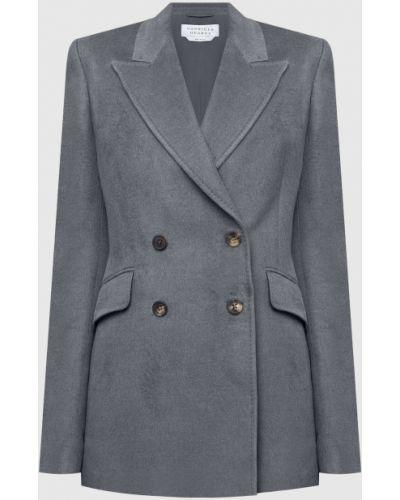 Серый пиджак двубортный Gabriela Hearst