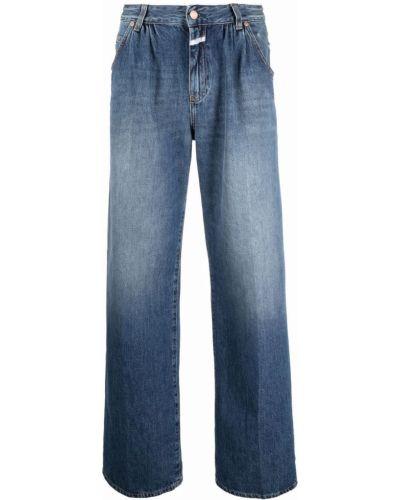 Синие широкие джинсы с завышенной талией Closed