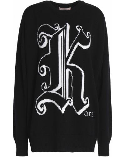 Sweter wełniany - czarny Christopher Kane