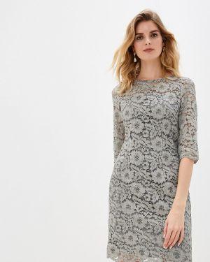 Вечернее платье серое осеннее Argent