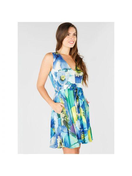 Платье миди с цветочным принтом с V-образным вырезом Rene Derhy