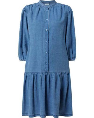 Sukienka rozkloszowana - niebieska Marc O'polo Denim