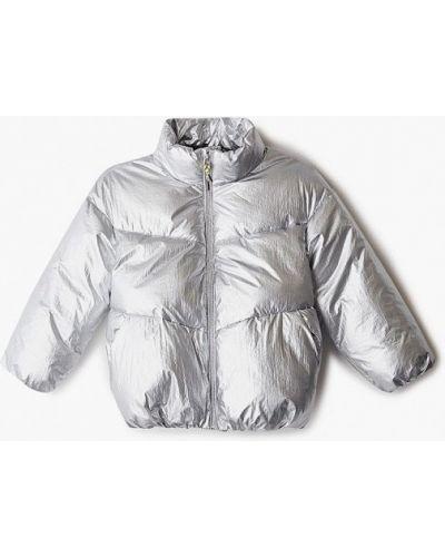 Серебряная утепленная куртка Sela