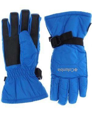 Niebieskie rękawiczki z nylonu Columbia