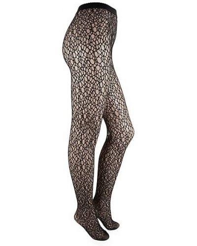 Czarne rajstopy bezszwowe z nylonu Wolford