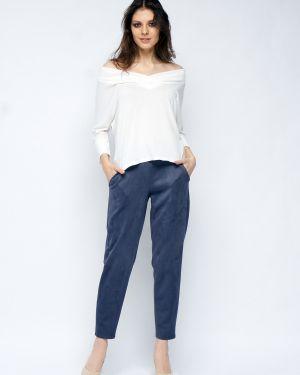 Замшевые повседневные свободные брюки с карманами свободного кроя Fiato