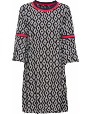 Платье мини со вставками с вырезом Bonprix