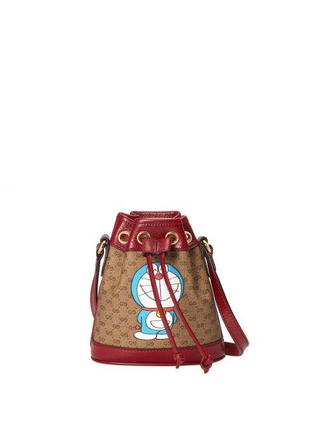 Brązowa torebka skórzana Gucci