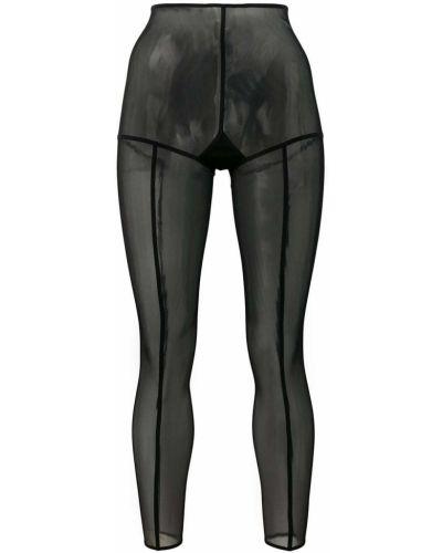Нейлоновые черные колготки прозрачные Ann Demeulemeester