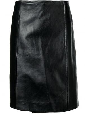 Черная юбка с запахом из вискозы Prada