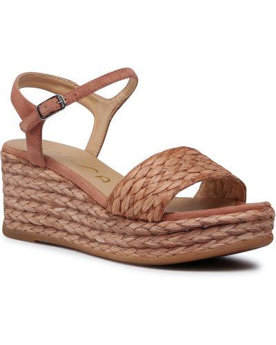 Sandały espadryle - różowe Unisa