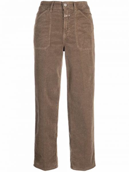 Коричневые хлопковые брюки Closed