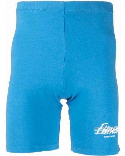 Хлопковые шорты - синие Sporty And Rich