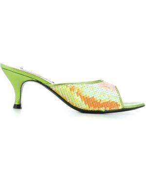 Желтые мюли на каблуке Leandra Medine