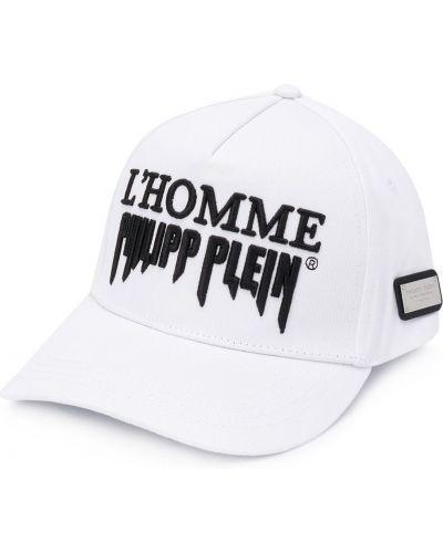 Bawełna bawełna biały czapka z daszkiem z haftem Philipp Plein