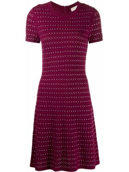 Różowa sukienka mini rozkloszowana krótki rękaw Michael Michael Kors