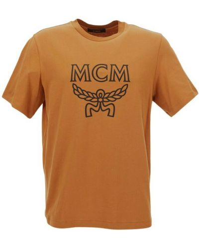 Pomarańczowa t-shirt Mcm