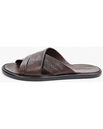 Кожаные сандалии - коричневые Tervolina