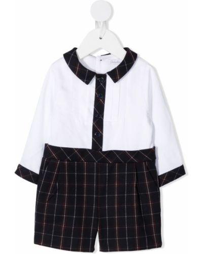 Белая рубашка из вискозы с длинными рукавами круглая Patachou