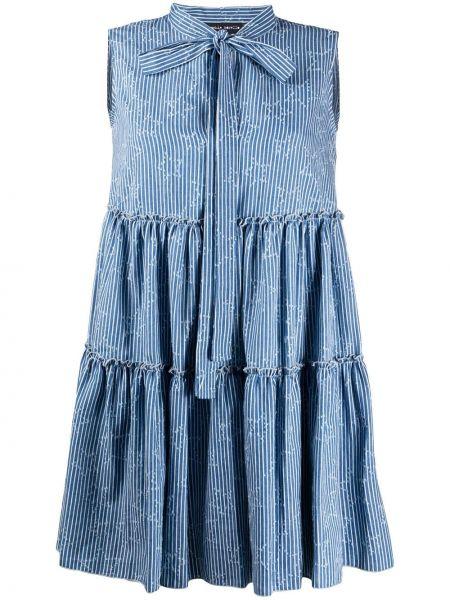 Платье мини короткое - синее Frankie Morello