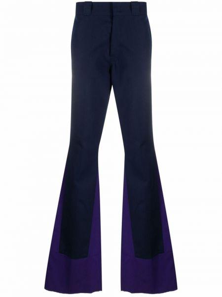 Niebieskie spodnie z paskiem bawełniane Raf Simons