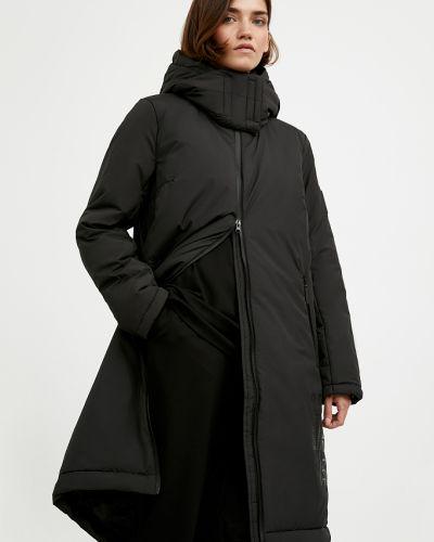 Теплое черное пальто Finn Flare