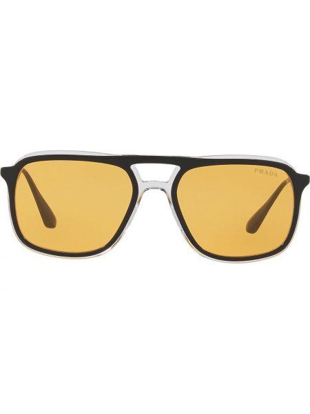 Czarne okulary Prada Eyewear