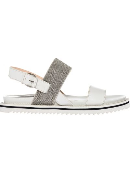 Кожаные сандалии - белые Steffen Schraut