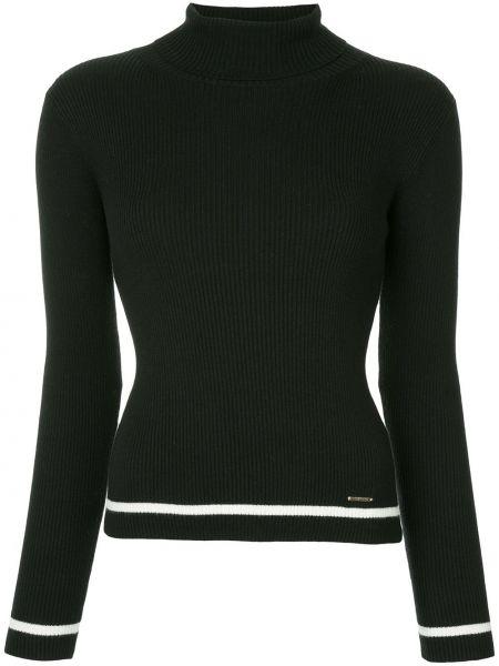 С рукавами кашемировый черный свитер с воротником Loveless