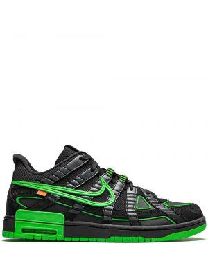Czarne sneakersy skorzane sznurowane Nike X Off White