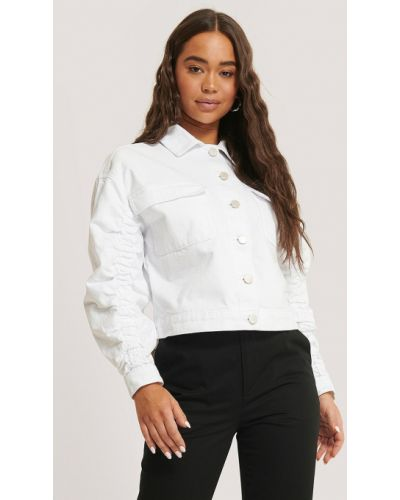 Джинсовая куртка - белая Na-kd