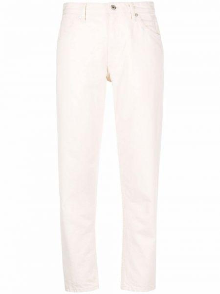 Niebieskie jeansy z paskiem bawełniane Jil Sander