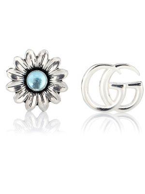 Kolczyki pierścionki kolczyki ze sztyftem z topazem Gucci