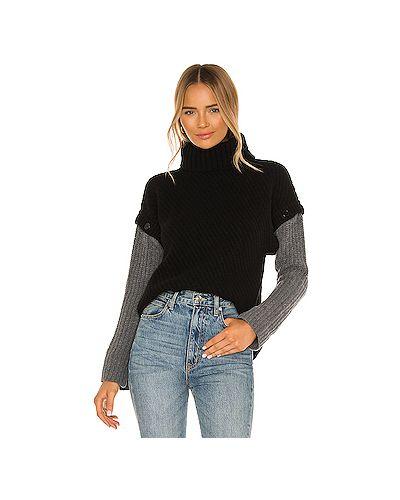 С рукавами нейлоновый черный свитер с воротником Equipment