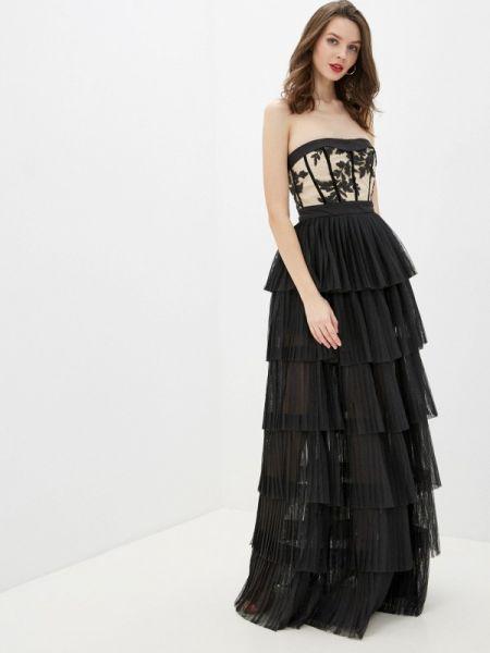 Вечернее платье осеннее черное Gepur