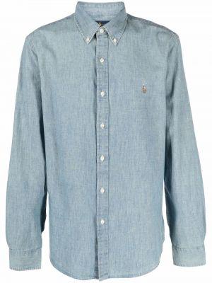 Niebieska koszula bawełniana Ralph Lauren Collection
