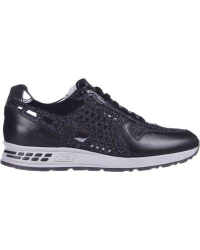 Кожаные кроссовки - черные Nero Giardini