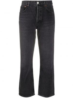 Prosto bawełna czarny jeansy do kostek z kieszeniami Agolde
