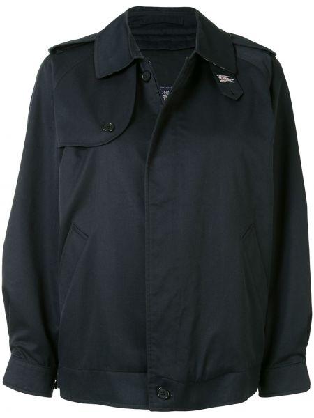 Классическая прямая синяя куртка на пуговицах Burberry Pre-owned