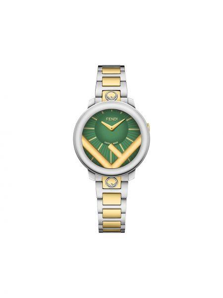 Dwustronny zegarek okrągły do twarzy złoto Fendi