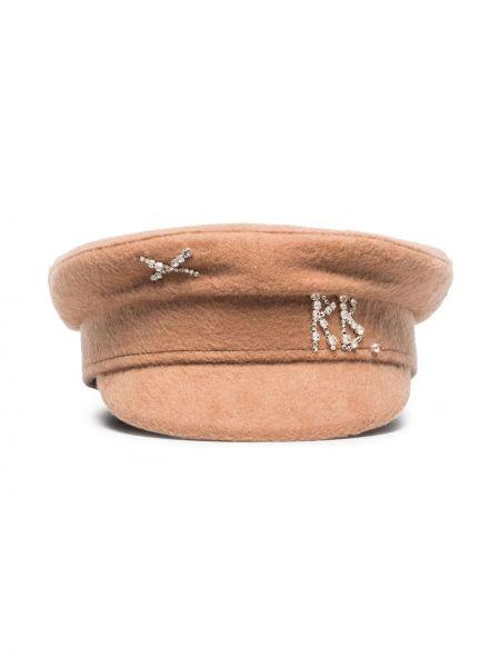 Шерстяная шапка - бежевая Ruslan Baginskiy