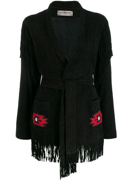 Черная длинная куртка Jessie Western
