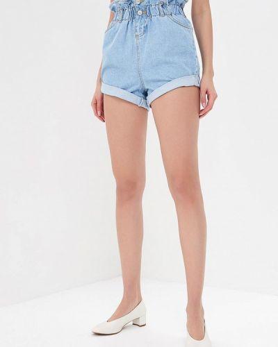 Голубые джинсовые шорты Topshop