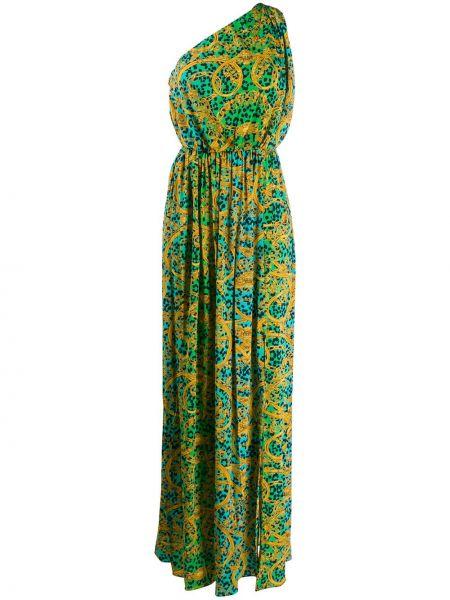 Джинсовое платье макси с поясом Versace Jeans Couture