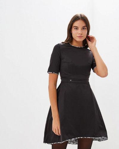 Платье осеннее черное Mazal