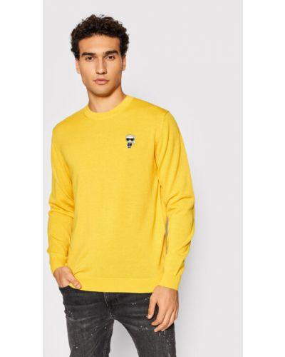 Sweter - żółty Karl Lagerfeld