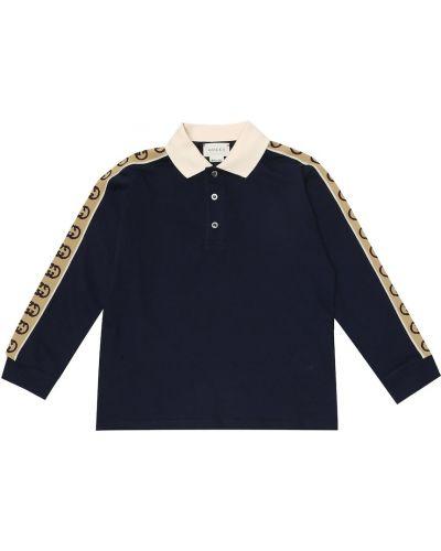 Bawełna bawełna niebieski koszula rozciągać Gucci Kids